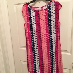 👗AUTHENTIC DONNA MORGAN COLORFUL ⭕️ SHIFT DRESS